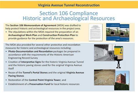 section 106 compliance first details on initial virginia ave tunnel construction