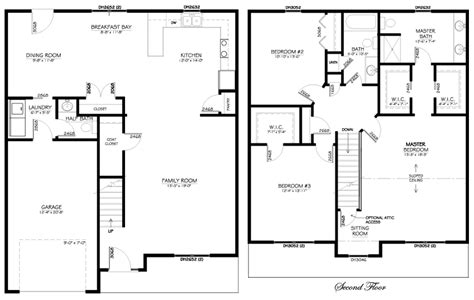 floor plans for 2 story homes spacious 2 story home with large master suite walk in