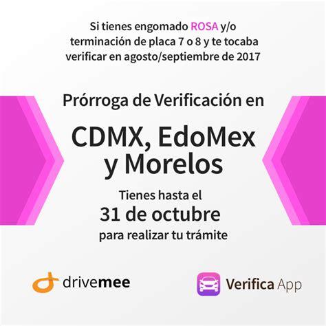 prrroga de verificacin estado de mxico verifica noticias mant 233 n al d 237 a tu auto