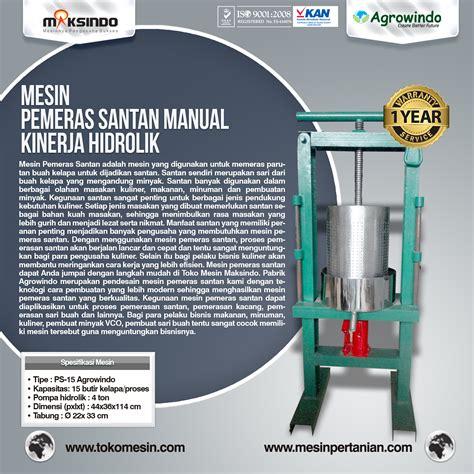 Peras Santan Hidrolik mesin pemeras santan manual dan listrik agrowindo
