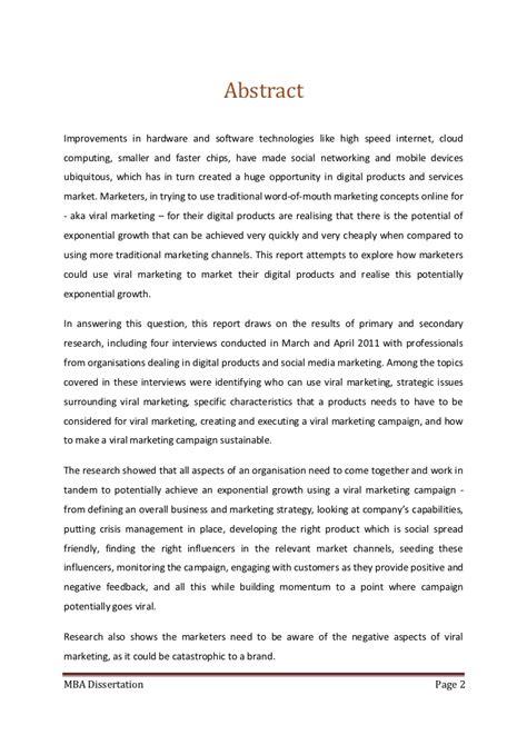 media dissertation ideas viral marketing of digital products using social media