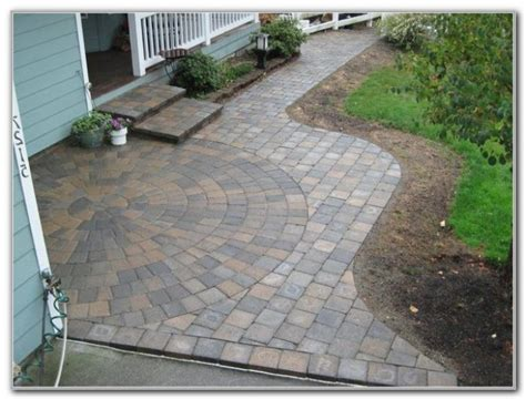 interlocking patio tiles over grass patios home