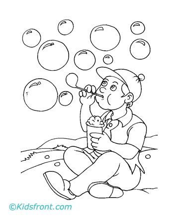 blowing bubbles coloring sheet coloring pages