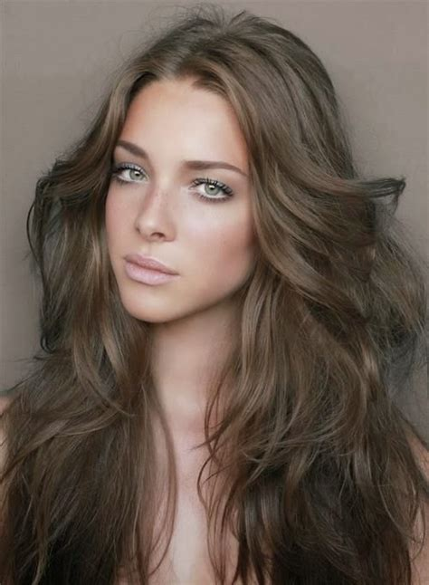 medium cool brown hair color images