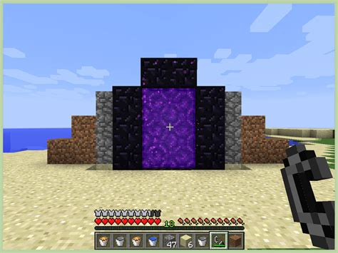 How To Make A Minecraft by How To Make A Nether Portal In Minecraft With Pictures