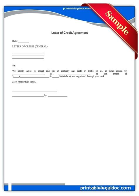 letter of credit draft template letter of credit draft template gallery template design