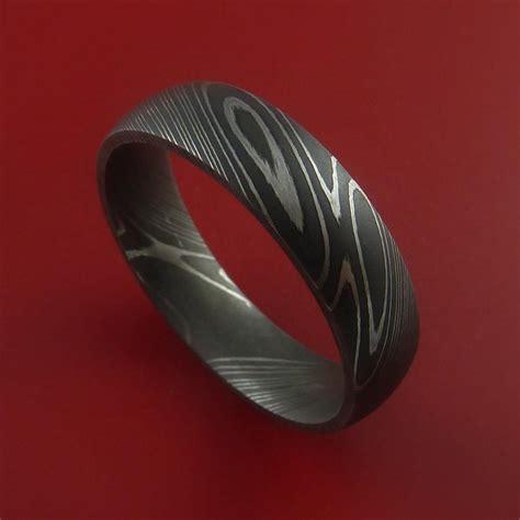 metal rings for jewelry damascus steel ring acid finish genuine craftsmanship