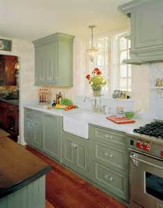 Kitchen Cabinets Painted Green English Country Kitchen Redeisign Traditional Kitchen