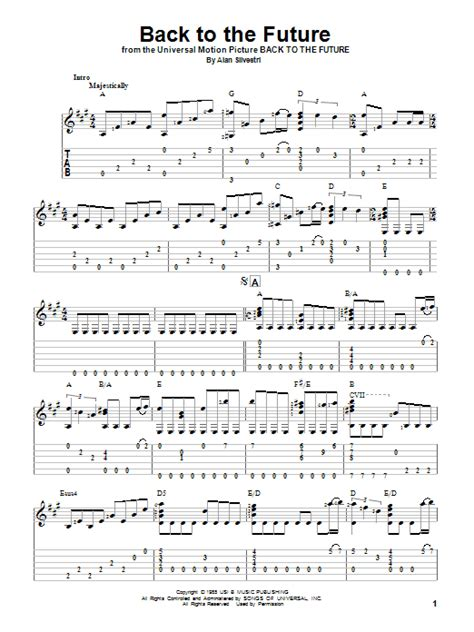 theme music back to the future back to the future theme tablature guitare par alan