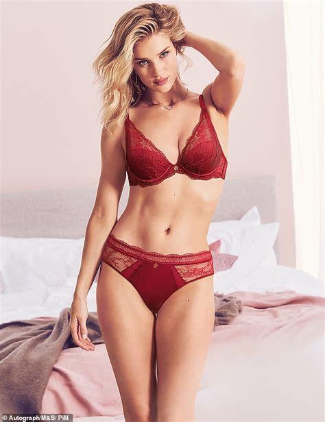 rosie huntington whiteley underwear m s rosie huntington whiteley shows off figure in new m s