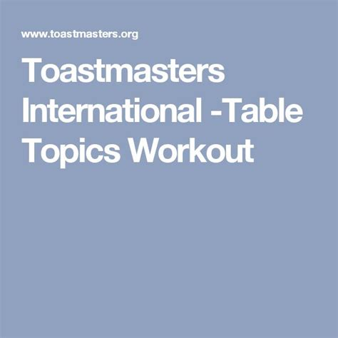 toastmasters table topics tips best 25 table topics ideas on topics to