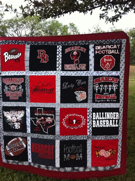 Memory Quilts Made From T Shirts by 20 T Shirt Memory Quilt Made From Your 20 By Dallashousequilts