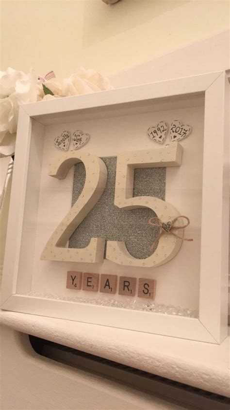 25th wedding anniversary diy gifts personalised 25th wedding anniversary scrabble