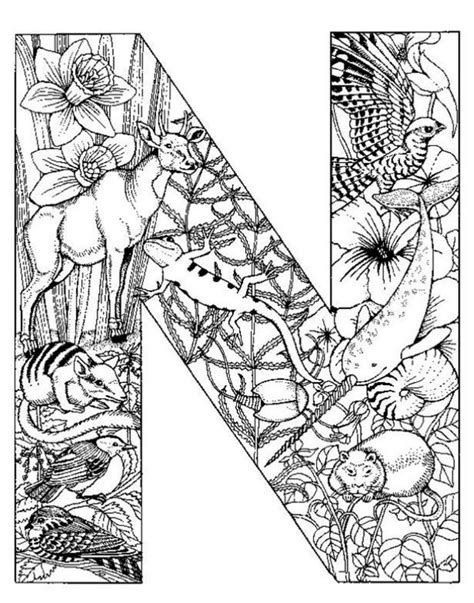 Detailed Coloring Page free coloring pages of detailed letters