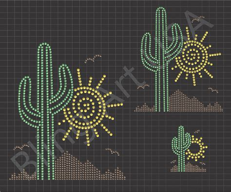 cactus rhinestone downloads desert files bling art stone