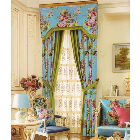 Curtains Or No Curtains Decor Baby Blue Velvet Curtain Floral Patterns No Valance