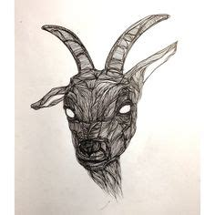 tattoo pen goats satanic goat drawing dark shrine of sutekh pinterest