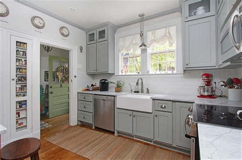 Best Kitchen Canisters Cottage Kitchen With Subway Tile Amp Built In Bookshelf In