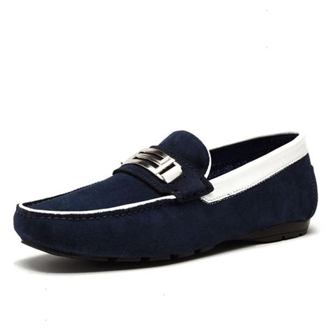 mens suede shoes loafers mens suede leather loafers shoes cw740123