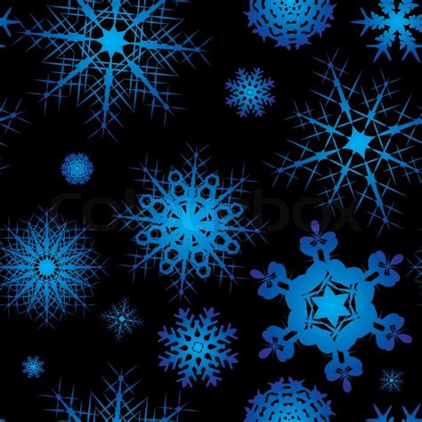 01bb23 Snowflake Patten Simple Design Blue snowflake background design in blue and black with no join