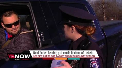 Moes Gift Card Target - novi police gives warnings and target gift cards to traffic violators wxyz com