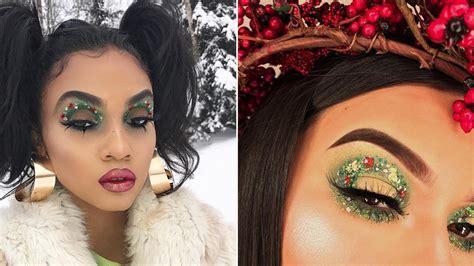 google christmas makeup wreath eye makeup is the most festive makeup on instagram