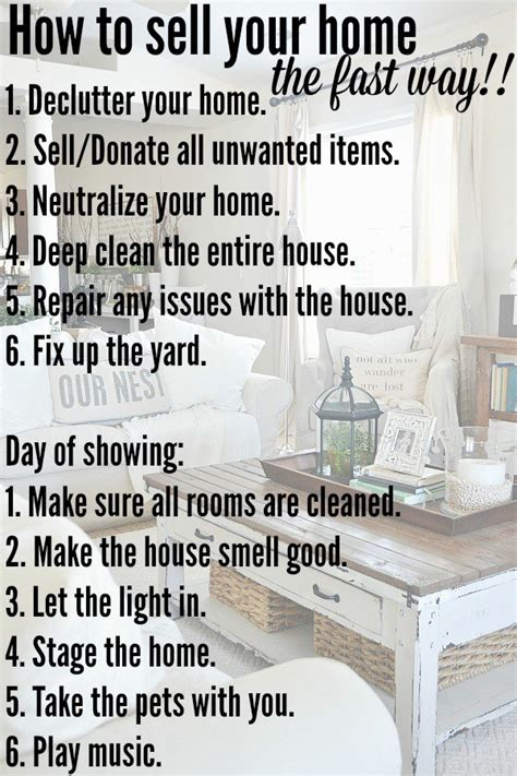 how to sell your home fast liz