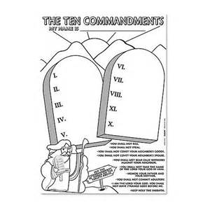ten commandments coloring pages the ten commandments coloring paper poster