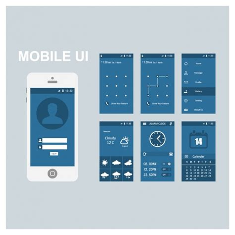 mobile screen templates vector free download
