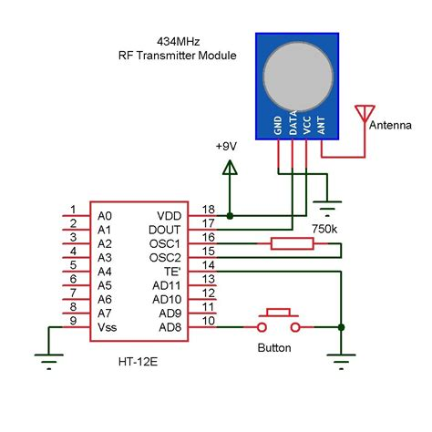 wireless doorbell arduino arduino circuit and circuit diagram
