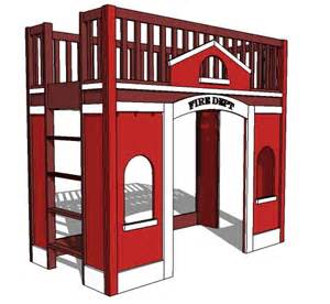 firehouse furniture white station loft bed diy projects