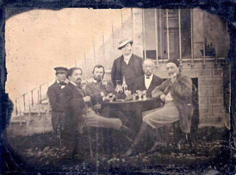 the photograph a visual vincent van gogh possibly identified in newly discovered group photo of famous artists from 1887