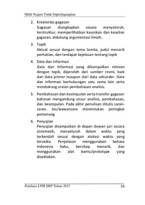 ketentuan format makalah buku panduan lpir 2015