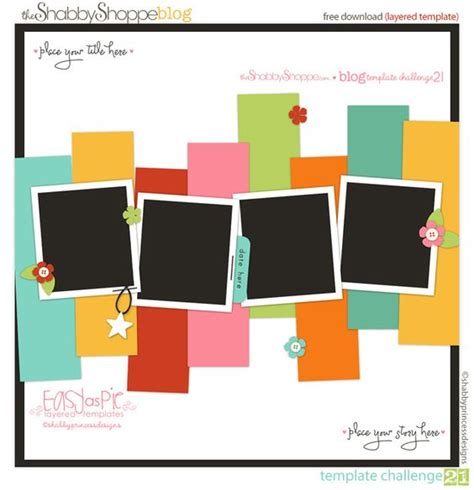 templates for scrapbooking templates shabby and layout on