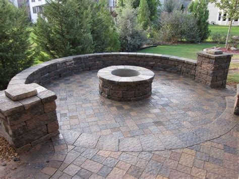 Dream Paver Patio Fire Pit Google Search Fire Pit Brick Patio Designs With Pit