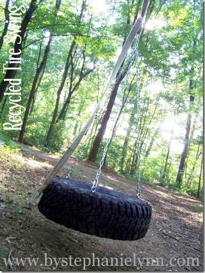 recycled tire swing diy recycled tire swing