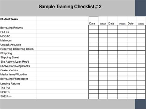 workout checklist template checklist templates find word templates