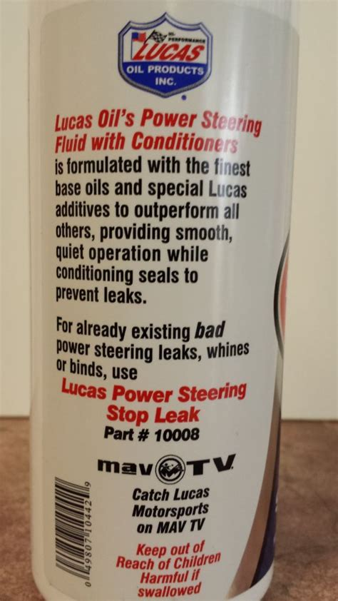 Car Types Of Fluid by Lucas Power Steering Fluid With Conditioner For Any Type