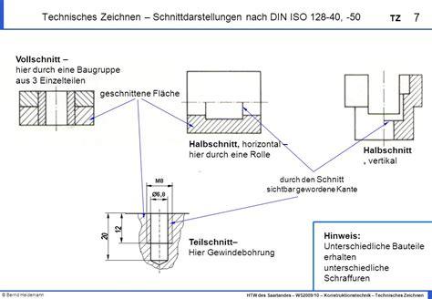 3 2 technisches zeichnen ansichten schnittdarstellung - Technisches Zeichnen Schnitt