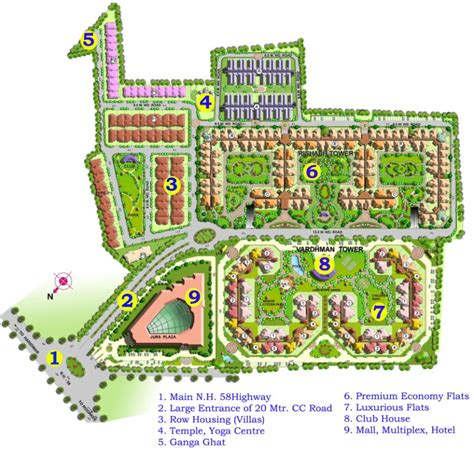 Modern Home Layouts the vardhman developers master plan