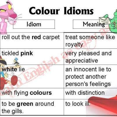 color idioms colour idioms and their meanings creative and