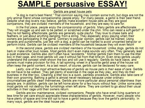 Exles Of Persuasive Essays For by What Is A Persuasive Essay