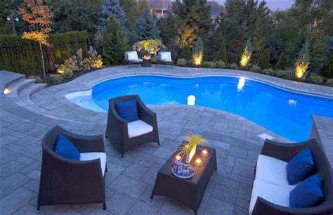sloped backyard pool landscaping from bland to grand