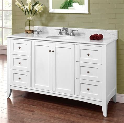 Shaker Bathroom Vanity Shaker Americana 60 Quot Single Bowl Vanity Polar White Fairmont Designs Fairmont Designs