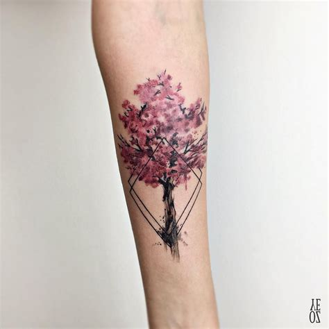 cherry blossom tattoos on wrist nature with cherry blossom and