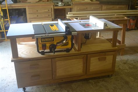 how to make a router and table saw combination table