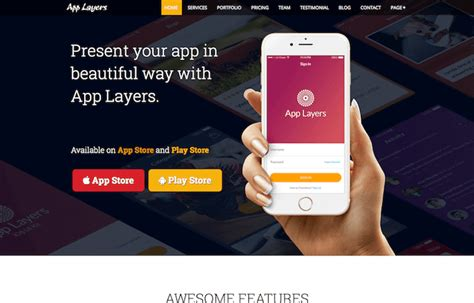 Applayers Free Bootstrap App Landing Page Template Graygrids Bootstrap App Landing Page Template