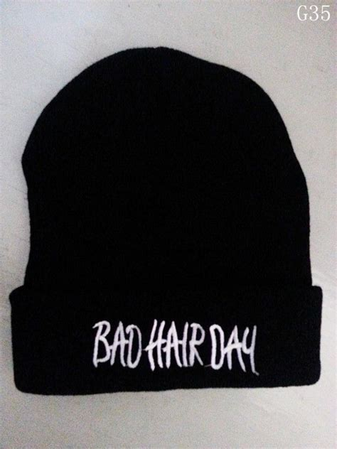 bad hair day black hat hip hop hats unisex youth cool