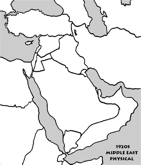 middle east map drawing blank political map of middle east image search results