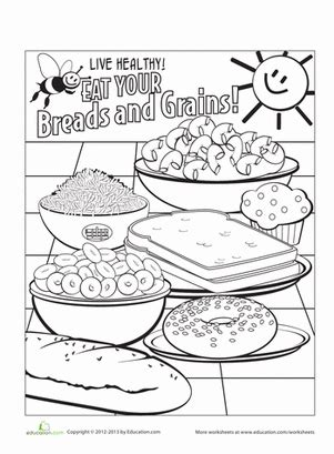 food groups breads and grains worksheet education com